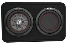 "Kicker 43TCWRT82 COMPRT8 8"" 600W Shallow Car Subwoofer+Slim Sub Box Enclosure"