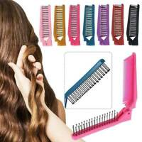 Foldable Hair Comb Pocket Clip Massage Hair Comb Brush Anti-static Hair Styling