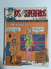 LOS NUEVOS SUPERFRIOS 1970'S MEXICAN COMIC BOOK EL TRINQUETE GD/VG CONDITION