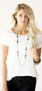 Paparazzi Jewelry Uptown Talker -Blue & Silver Necklace