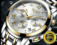 LIGE New Men Luxury Brand Male Sport Watches Waterproof Stainless Steel QUARTZ