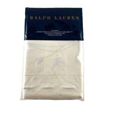 Ralph Lauren Islesboro Hillsboro Cream Embroidery King Pillow Sham New Msrp $215