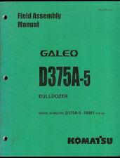 2002 Komatsu Galeo D375A-5 Bulldozer Field Assembly Instruction Manual