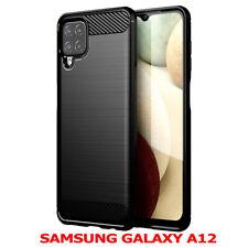 "Silicone Cover Fiber Of Carbone Tempered Glass Samsung Galaxy A12 6.5 "" SM-A125F"