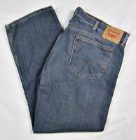 Levis 559 Relaxed Fit Straight Leg Blue Jeans Mens Size 42 x 31 100% Cotton