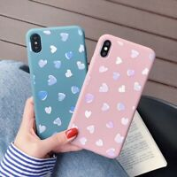 Slim Case For iPhone XS Max XR 6 7 8 Plus 5 Cover Cute Love Heart Clear Soft TPU