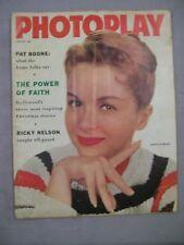 PHOTOPLAY MAGAZINE JANUARY 1958 DEBBIE REYNOLDS PAT BOONE RICKY NELSON