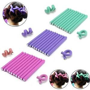 10PCS Hair Rollers Foam Curlers Soft Sleep-In Twists Curls Beach Waves Styling