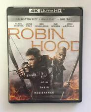Robin Hood 4K Ultra Hd, Blu-Ray, + Digital! Brand New Sealed!