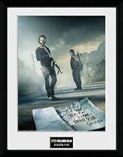 30 x 40cm The Walking Dead Rick And Daryl Framed Collector Print 41cm