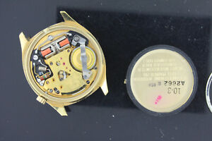 Vintage Bulova Accutron for parts gold filled mens wristwatch 218 movement