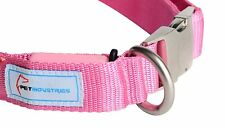 Pet Industries Metal Buckle LED Dog Collar USB Rechargeable Color Pink #7
