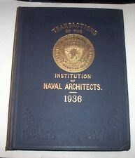 Nautica Ingegneria - Transactions of the Institution of Naval Architects - 1936