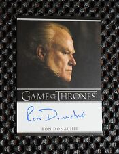 GAME OF THRONES SEASON 3 Ron Donachie as Ser Rodrik Cassel  AUTOGRAPH CARD