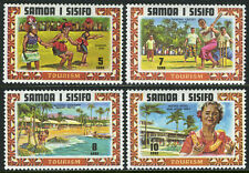Samoa 344-347, MNH. Turist Publicity. Siva Dance, Cricket game, Hotels, 1971