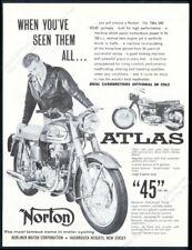 1963 Norton Atlas 750 motorcycle photo vintage print ad