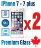 Premium Tempered Glass Screen Protector for iPhone 7 8,  iPhone 7 plus /  2-PACK