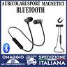 Auricolari Bluetooth Sport Magnetici Cuffie Wireless GRIGI con microfono  🇮🇹