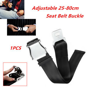 Adjustable Aircraft Airplane Airline Car Seat Belt Extender Buckle Black Durable