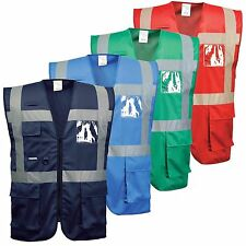 Portwest F476 Iona Executive Vest Safety Jacket Reflective ID Pocket Radio Loop