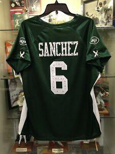 Mark Sanchez NY Jets Womens Large Reebok Jersey NEW w/tags
