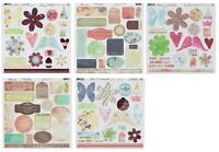 Fancy Pants 12x12 Die Cut Cardstock Tags/Panels/Shapes Sweet Pea/Crush/Christmas