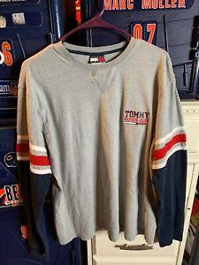 Tommy Hilfiger Jeans Long Sleeve Grey Mens Medium