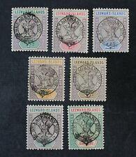 Ckstamps: Gb Stamps Collection Leeward Isands Scott#9-15 Mint H Og
