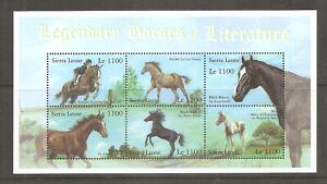 Sierra Leone SC # 2478 Legendary Horses Of Literature . Miniature Sheet. MNH