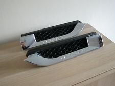 Genuine jaguar f-type paire chrome aile latérale puissance ventilation persienne grilles