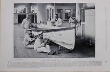 1897 BOER WAR HMS HIBERNIA MALTA MAN OF WAR BOAT REPAIR AND PAINT SAILORS
