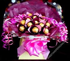 SWEET TREE BOUQUET ~ 16 X FERRERO ROCHER DISPLAY ~ PERSONALISED ~ DELIVERED
