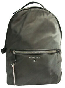 Michael Kors Kelsey Large Nylon Backpack Bookbag Graphite Gray Msrp:$178.00