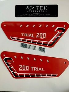 Fantic 200 REAR KICK Trials  Side Panels And Sticker Kit twinshock