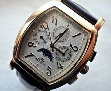 ASTRON Moonphase Perpetual Calendar Wristwatch. needs Battery. Hardly Worn