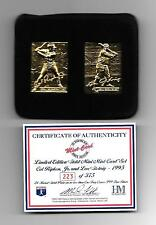 CAL RIPKEN & LOU GEHRIG HIGHLAND MINT GOLD MINI CARD BALTIMORE ORIOLES