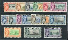 More details for bahamas qeii 1954-63 definitive set of 16 sg201/16 mnh