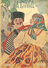1925 LA LETTURA Carlo LINATI La veste del DAIMYO *Rivista ILLUSTRATA