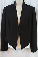Nine West Suit Separates Jacket Sz 10 Black Block Party Cropped Career Jacket