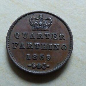 Quarter Farthing 1839 Queen Victoria 1/4