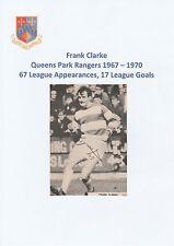 FRANK CLARKE QUEENS PARK RANGERS 1967-1970 ORIGINAL SIGNED MAGAZINE CUTTING