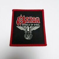 SAXON WHEELS OF STEEL PATCH VINTAGE WOVEN IRON ON NEW