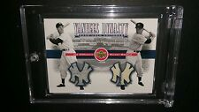 2001 UPPER DECK YANKEES DYNASTY DUAL JERSEY MANTLE AND DIMAGGIO - RARE!!! L@@k!!