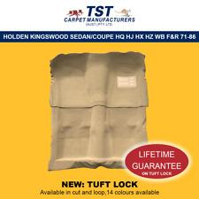 MOULDED CAR CARPET (G26) HOLDEN KINGSWOOD SEDAN/COUPE HQ HJ HX HZ WB F&R 71-86