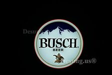 """Rare New Busch Light Beer Mountain Lager Led 3D Neon Sign 20"""""""