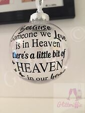 X2 Someone We Love In Heaven Decal Sticker DIY Bauble Decoration