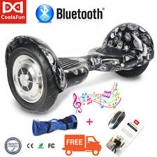 """10"""" Bluetooth Self Balancing Electric Scooter Two Wheel Overboard Smart Bag+Led"""