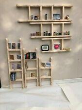 wooden shelves solid pine shelf unit shabby chic ladders cd rack bookcase vint