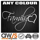 FAMILY STICKER DECAL LOVE FOR GIRLS CAR WINDOW WALL CUTE GIRLY TATTOO HEART