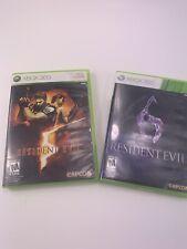 Resident Evil 5  & Resident Evil 6 Xbox 360